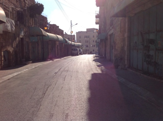 The vacant Shuhada Street, once a bustling market.